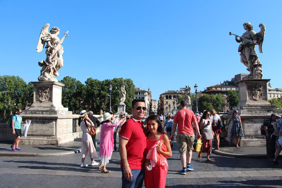 The Benitez Euro Adventures 2017 Part 1 – Italy (Rome, Assisi, Tivoli) Bridge Near Castel SantAngelo