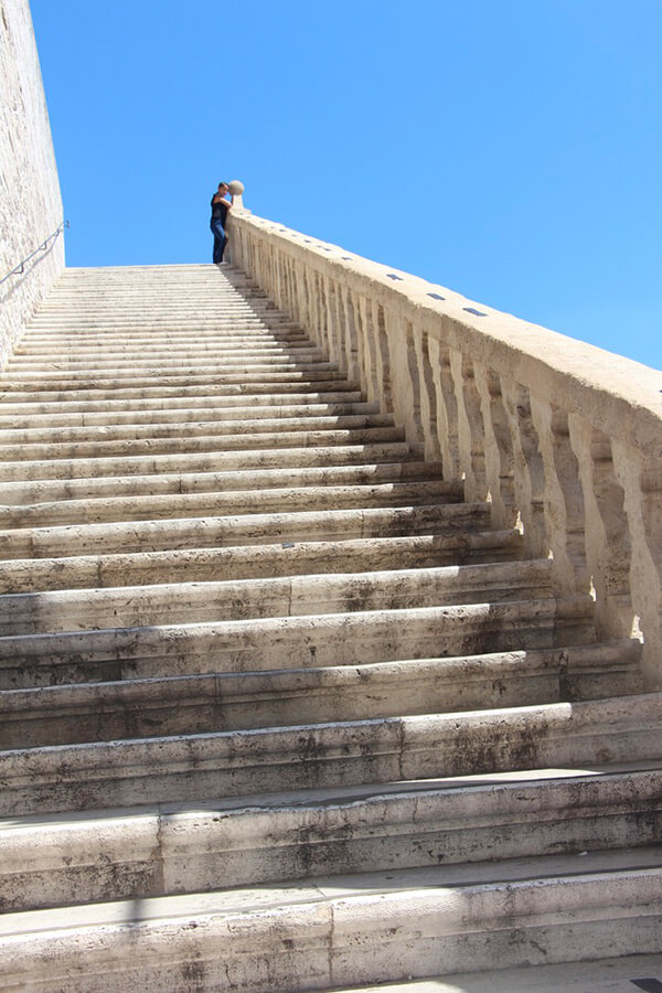 The Benitez Euro Adventures 2017 Part 1 – Italy (Rome, Assisi, Tivoli) Stairs of The Basilica in Assisi