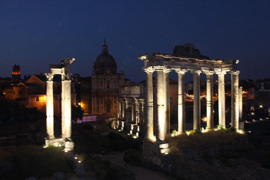 The Benitez Euro Adventures 2017 Part 1 – Italy (Rome, Assisi, Tivoli) The Forum at Night