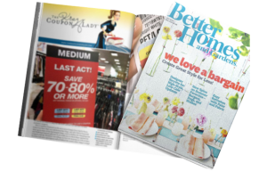 The Krazy Coupon Lady in a Better Homes and Gardens Magazine Article