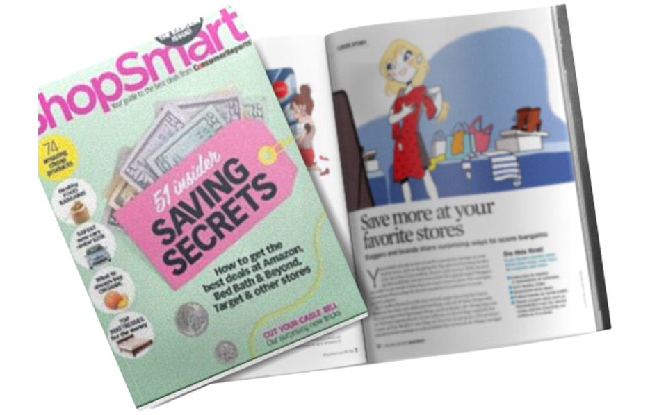 The Krazy Coupon Lady in a ShopSmart Magazine Article