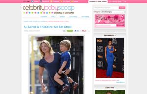 Ali Larter using Stride Rite Sneakers in a Celebrity Baby Scoop Blog Article