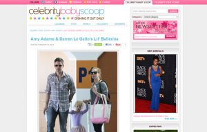 Amy Adams and Darren Le Gallo using Stride Rite Sneakers in a Celebrity Baby Scoop Blog Article
