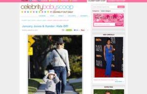 January Jones using Stride Rite Sneakers in a Celebrity Baby Scoop Blog Article