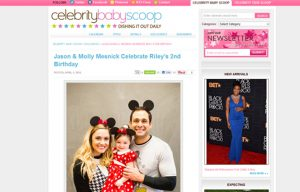 Molly Mesnick using Stride Rite Sneakers in a Celebrity Baby Scoop Blog Article