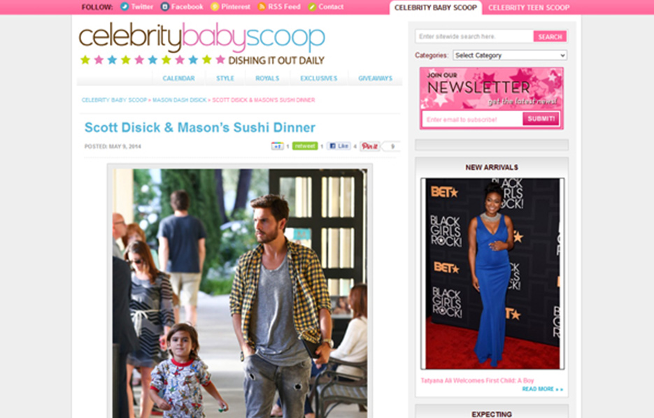 Mason Disick using Stride Rite Sneakers in a Celebrity Baby Scoop Blog Article