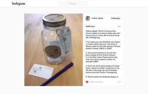 Avery products being used in a Alyssa Milano Instagram Post