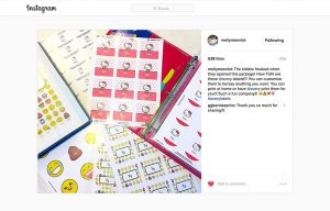 Avery products being used in a Molly Mesnick Instagram Post