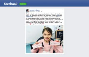 Avery products being used in a Jamie Lynn Spears Facebook Post