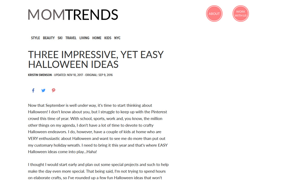 Avery products in a Mom Trends Blog Article