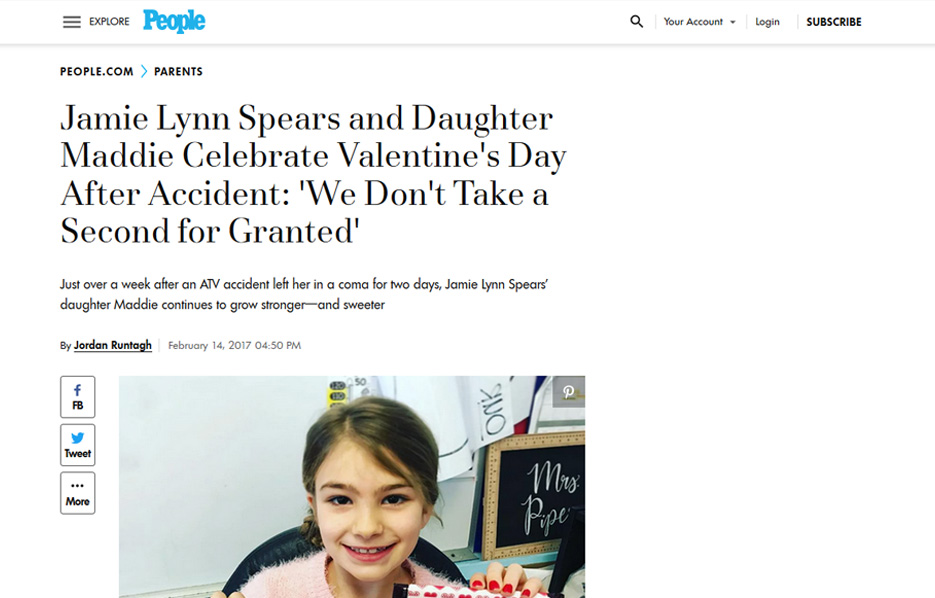 Avery products in a People Magazine Blog Article