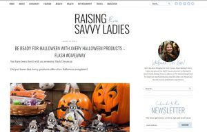 Avery products in a Raising Three Savvy Ladies Blog Article