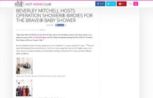 Beverly Mitchel using Carousel Desing products in a Hot Moms Club Blog Article
