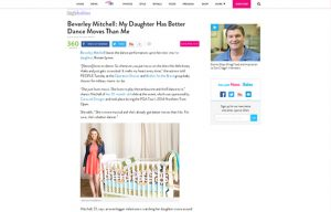 Beverly Mitchel using Carousel Desing products in a People BabiesBlog Article