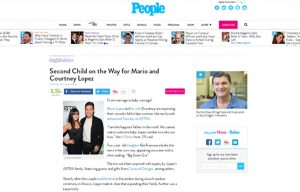The Lopez Family using Carousel Desing products in a People Magazine Blog Article