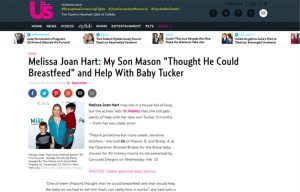 Melissa Joan Hart using Carousel Desing products in a US Weekly Magazine Blog Article