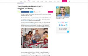 Phaedra Parks using Carousel Desing products in a People Babies Blog Article