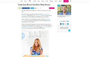 Jenn Brown using Stride Rite Sneakers in a Moms and Babies Blog Article