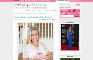 Kendra Wilkinson using Stride Rite Sneakers in a Celebrity Baby Scoop Blog Article