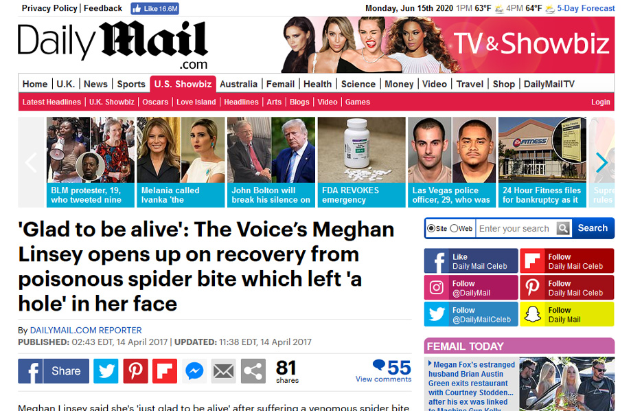 Stratpharma products being mentioned in a DailyMail.com Article