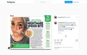 Stratpharma products being used in a Meghan Linsley Instagram Post