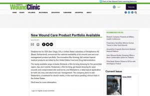 Stratpharma products being mentioned in a Today's Wound clinic Article