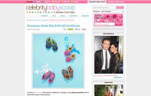 Stride Ride Products in a Celebrity Baby Scoop Blog Article