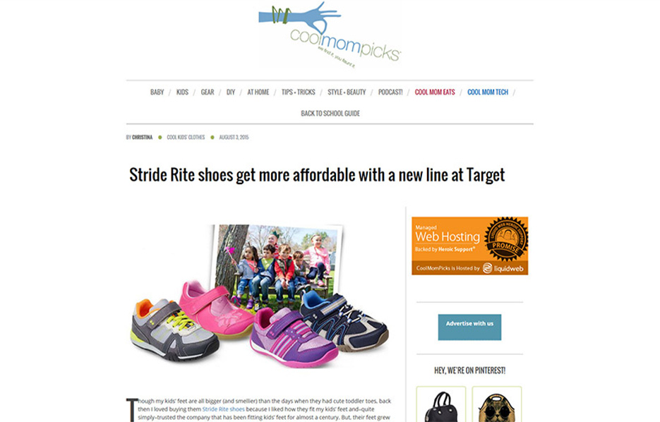 Stride Ride Products in a Cool Mom Picks Blog Article
