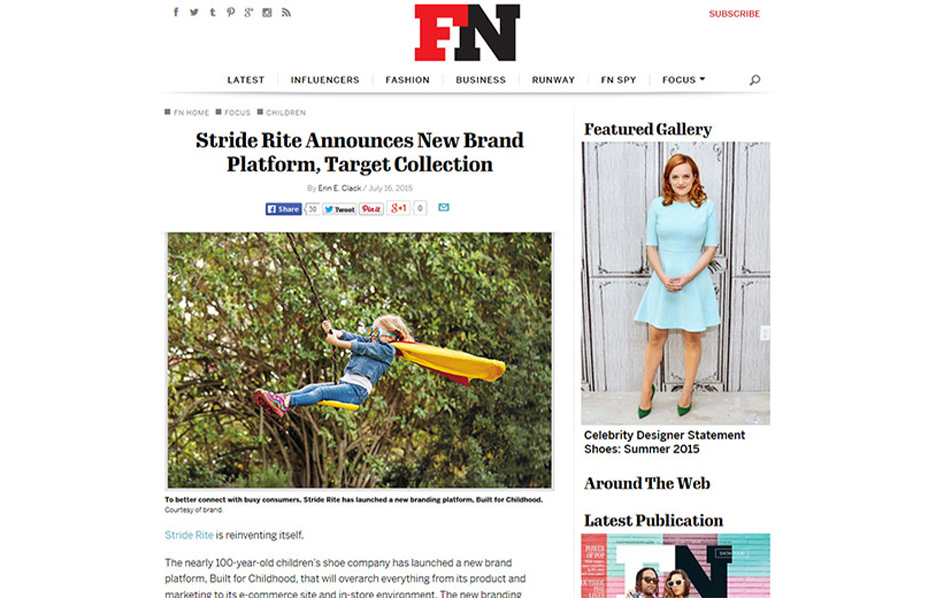 Stride Ride Products in a FN Blog Article