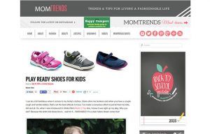 Stride Ride Products in a Mom Trends Blog Article