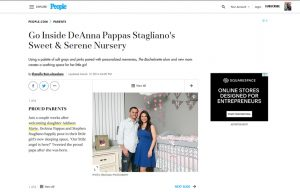 DeAnna Stagliano using Stride Rite Sneakers in a People Magazine Article