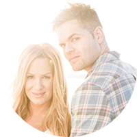 Sports Broadcaster and TV Host, Actor Jenn Brown and Wes Chatham
