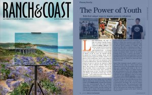 Daniella and Gabriel Benitez in a Ranch and Coast Magazine Article