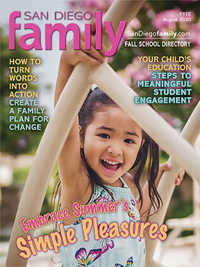 August 2020 San Diego Family Magazine Cover