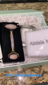 Andrea Stanley Mentioning Aloisia Beauty in her instagram Stories