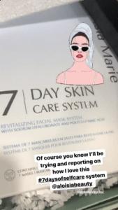 Ashley Jones Mentioning Aloisia Beauty in her instagram Stories