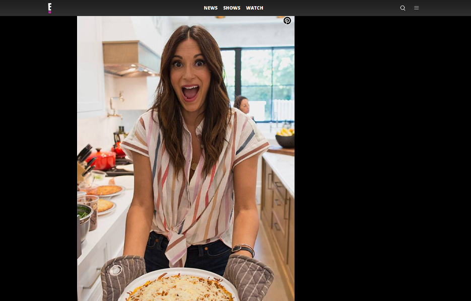 Cali'Flour Foods recipe being made by Angelique Cabral in a E! News Blog Article