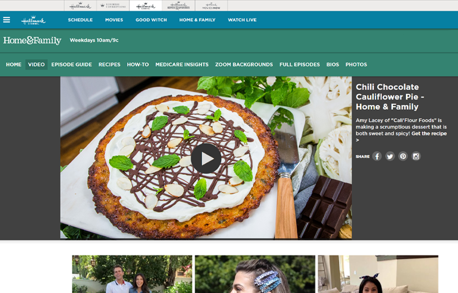 Cali'Flour Foods in a Hallmark Channel - Home and Family Blog Article