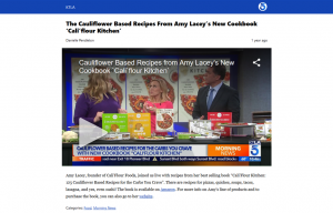 Cali'Flour Foods in a KTLA News Article and blog