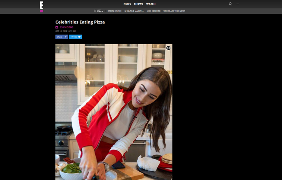 Cali'Flour Foods recipe being made by Former Miss Universe Olivia Culpo in a E! News Blog Article