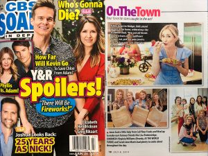 Ashley Jones, Ex Bridget, used a Cali´flour Food Recipe with her friends in a On The Town CDS Soaps in Depth Magazine Article