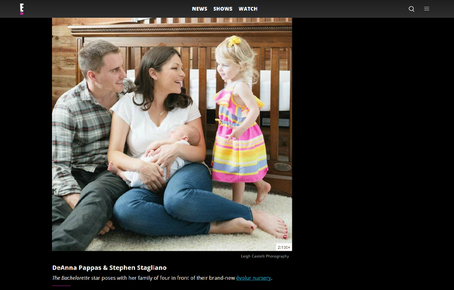 Celebrity DeAnna Stagliano using evolur products in a E! News Blog Article
