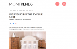 Evolur products in a Mom Trends Blog Article