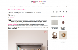 Celebrity Amy Davidson using evolur products in a Project Nursery Blog Article