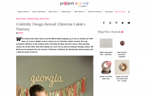 Celebrity Christine Lakin using evolur products in a Project Nursery Blog Article