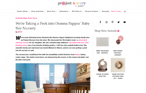 Celebrity DeAnna Stagliano using evolur products in a Project Nursery Blog Article