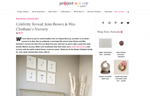 Celebrity Jenn Brown using evolur products in a Project Nursery Blog Article