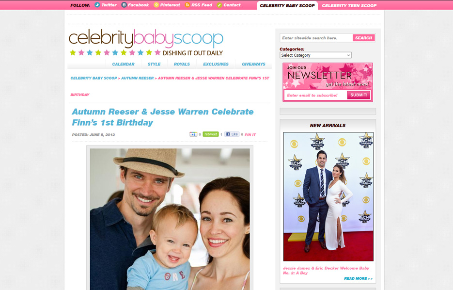 Autumns Reeser using Mabel's labels products in a Celebrity Baby Scoop Blog Article