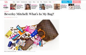 Beverly Mitchell using Mabel's labels products in a Us Magazine Article