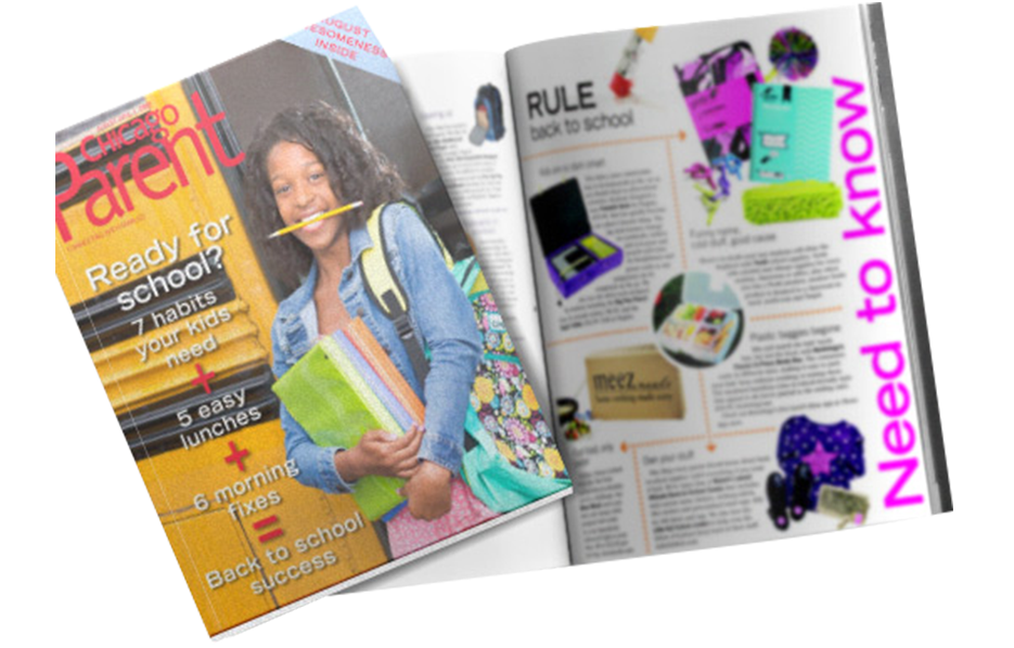 Mabel's labels products in a Chicago Parent Magazine Article